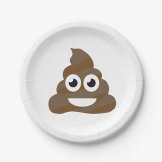 Funny Cute Poop Emoji 7 Inch Paper Plate