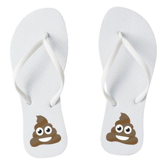 Funny Cute Poop Emoji Flip Flops