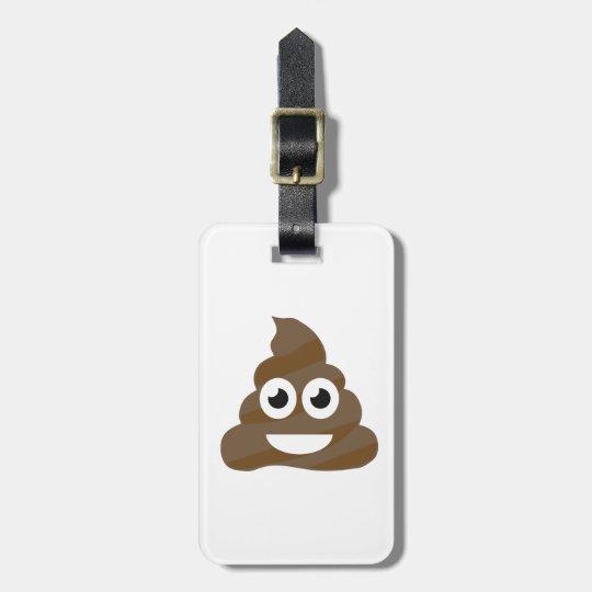 Funny Cute Poop Emoji Luggage Tag