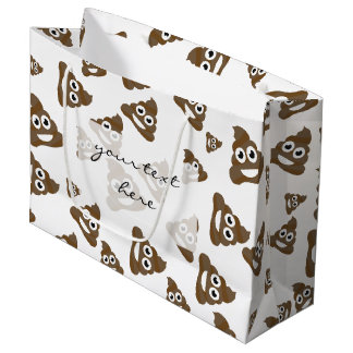 Funny Cute Poop Emoji Pattern Large Gift Bag