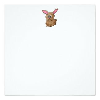 Funny Cute Rabbit. Personalized Invitation