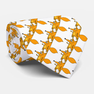 Funny cute red Cartoon foxes patterned Tie