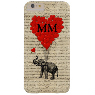 Funny cute romantic elephant and heart barely there iPhone 6 plus case