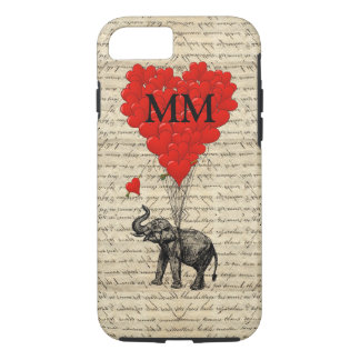 Funny cute romantic elephant and heart iPhone 8/7 case