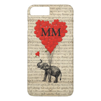Funny cute romantic elephant and heart iPhone 8 plus/7 plus case