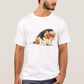 Funny Cute Sad Beagle Watercolour Dog Art Design T-Shirt