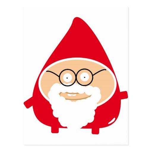 Funny Cute Santa Claus Postcard