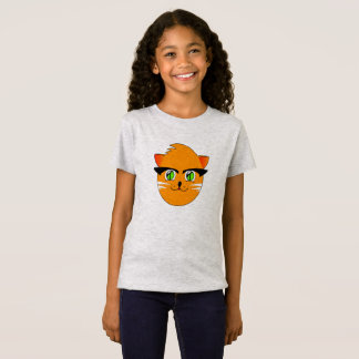 Funny Cute Smiling Cartoon Cat, I Love Cats Tshirt
