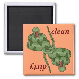 Funny Cute Snake Lover Kitchen Dishwasher Magnet