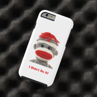 Funny & Cute  Sock Monkey  I Phone 6 case Tough iPhone 6 Case