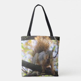 Funny cute Squirrel Double Sided Tote Bag