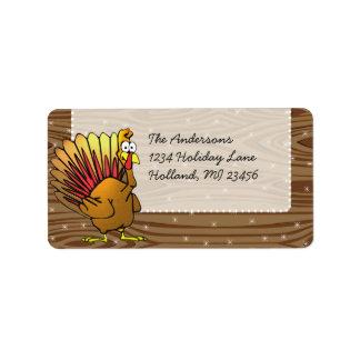 Funny Cute Turkey Thanksgiving Retrun Address Address Label