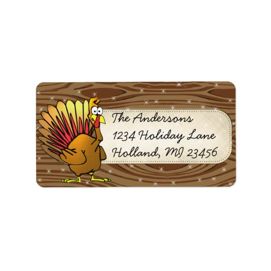 Funny Cute Turkey Thanksgiving Retrun Address Address Label