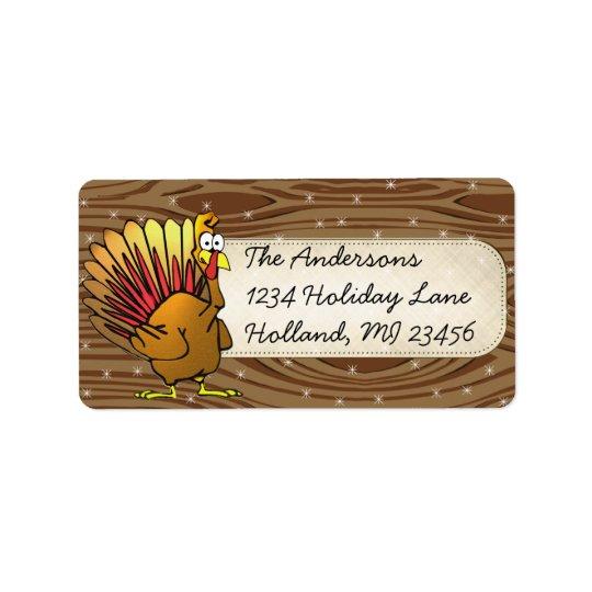 Funny Cute Turkey Thanksgiving Retrun Address Label