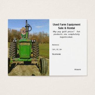 Funny/Cute Used Farm Equipment Business Card