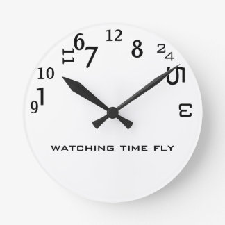 Funny Cute Watching Time Fly Wall Clocks