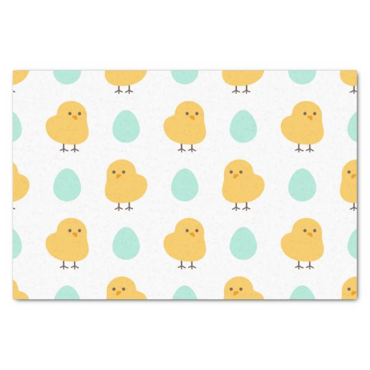 Funny cute yellow chick egg easter illustration tissue