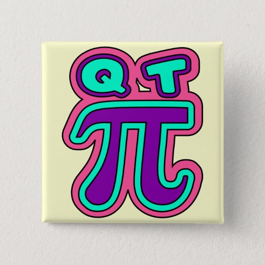 funny,cutie pie,edit background colour 15 cm square badge