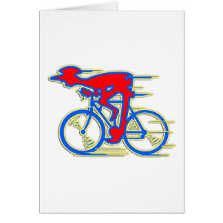 Funny Cycling Abstract Greeting Card