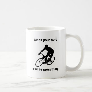Funny cycling coffee mug