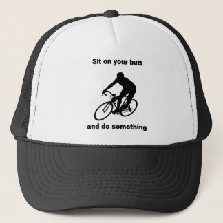 Funny cycling trucker hat