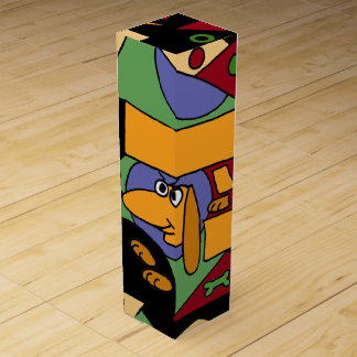 Funny Dachshund Art Abstract Wine Gift Box