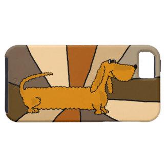 Funny Dachshund Art Tough iPhone 5 Case