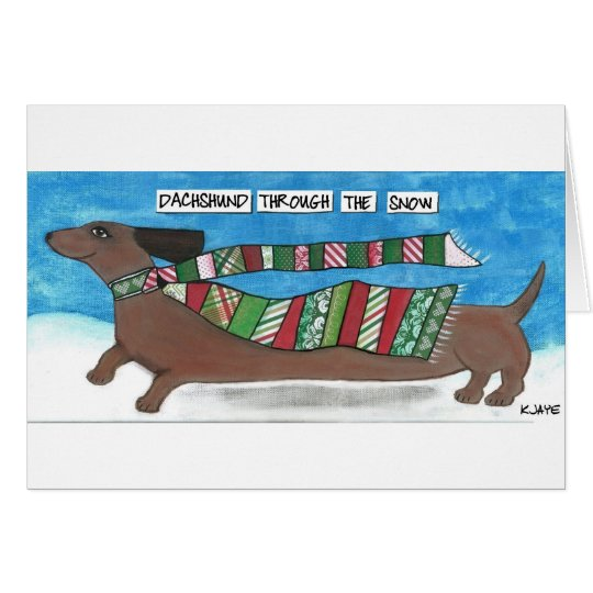 Funny Dachshund Christmas Card for Dog Lovers