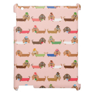 Funny Dachshund Dogs Case For The iPad 2 3 4