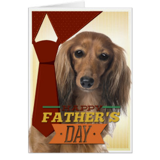 Funny Dachshund Father s Day Card