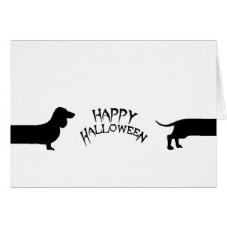 Funny dachshund Halloween Card