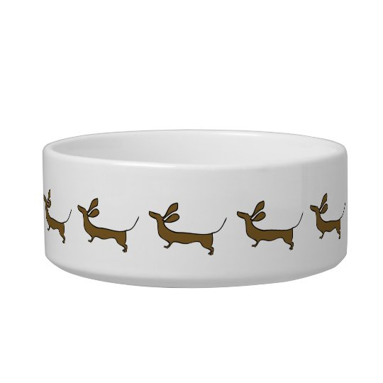Funny dachshund illustration pet bowl
