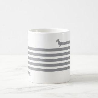 Funny dachshund mug grey