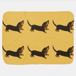 Funny Dachshund Playful Puppy Dog Baby Blanket