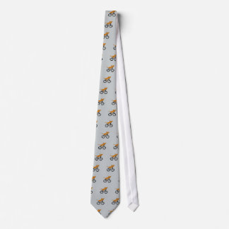 Funny Dachshund Riding Bicycle Tie