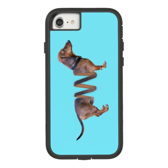Funny Dachshund Teal Slinky Weiner Dog Humour Case-Mate