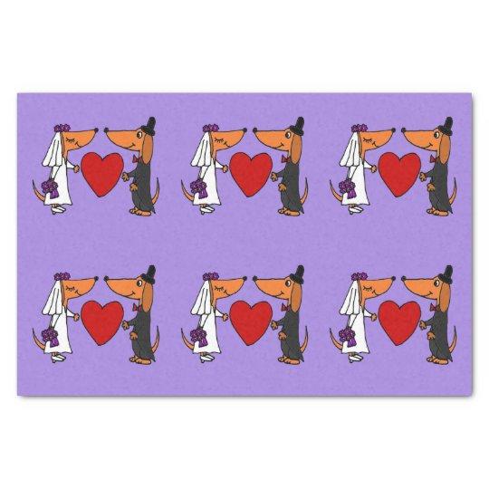 Funny Dachshund Wedding Tissue Paper