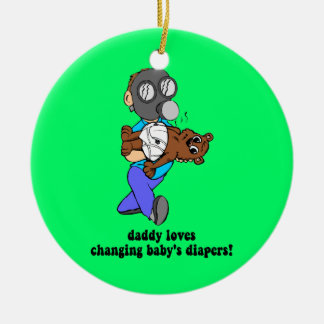 Funny dad christmas ornament
