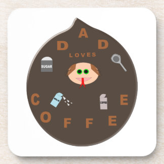 Funny Dad Monster Loves Coffee Coasters