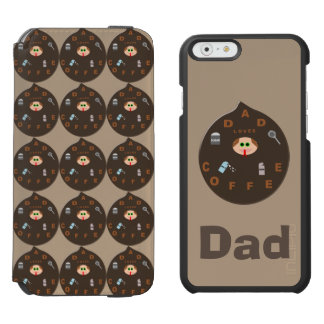 Funny Dad Monster Loves Coffee Custom iPhone Case Incipio Watson™ iPhone 6 Wallet Case
