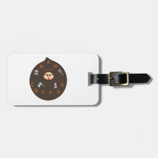Funny Dad Monster Loves Coffee Custom Luggage Tag