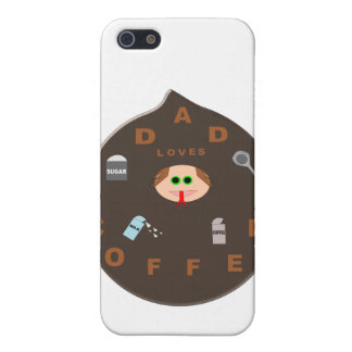 Funny Dad Monster Loves Coffee  iPhone 5 Cover