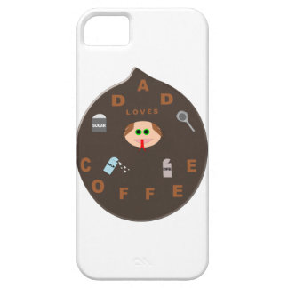 Funny Dad Monster Loves Coffee iPhone Case