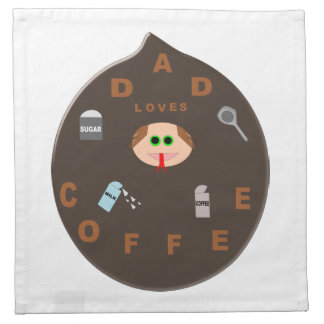 Funny Dad Monster Loves Coffee Party Napkin