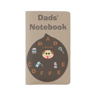 Funny Dad Monster Loves Coffee Personalized Large Moleskine Notebook