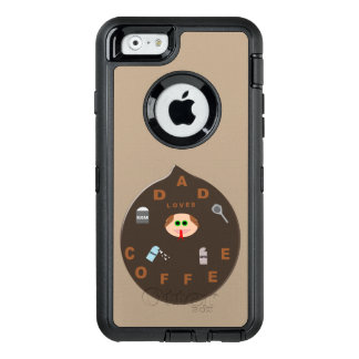 Funny Dad Monster Loves Coffee Phone Case