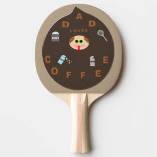 Funny Dad Monster Loves Coffee Ping Pong Paddle