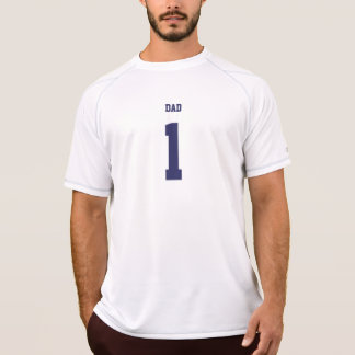 Funny Dad personalized number & name sports jersey T-Shirt