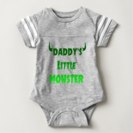 Funny Daddy's Little Monster - Goth Baby Clothing