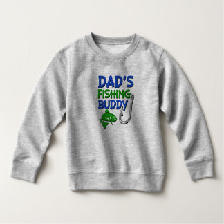 Funny Dad's Fishing Buddy boys toddler sweater